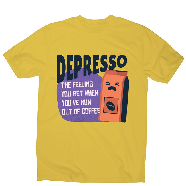 Depresso coffee - men's funny premium t-shirt - Graphic Gear