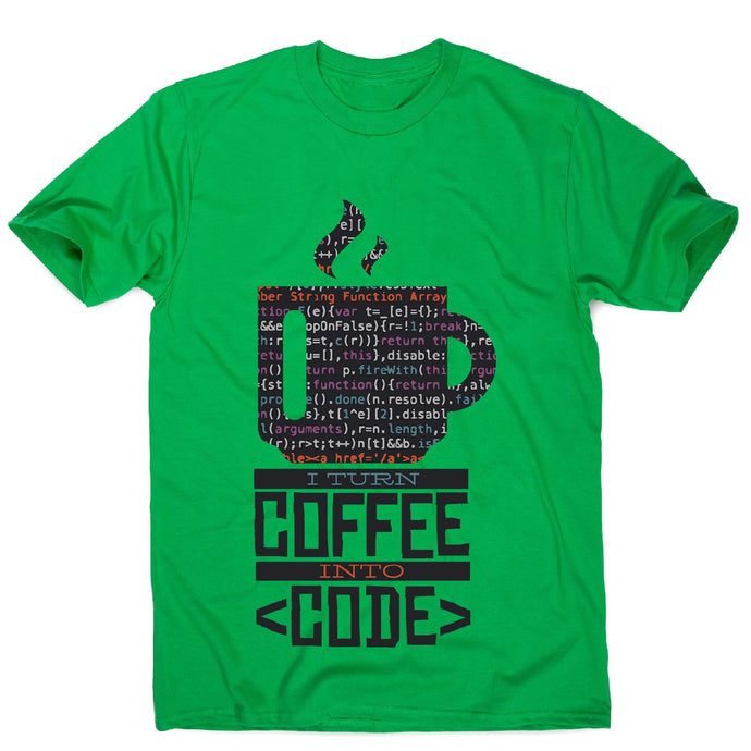 Developer coffee - men's funny premium t-shirt - Graphic Gear