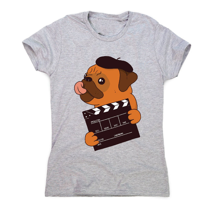 Director pug - funny dog women's t-shirt - Graphic Gear