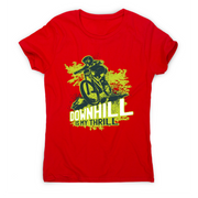 Downhill biking awesome mountain bike t-shirt women's - Graphic Gear