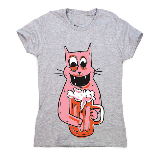 Drunk cat - women's funny premium t-shirt - Graphic Gear