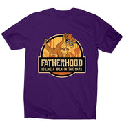 Fatherhood t-rex - funny men's t-shirt - Graphic Gear