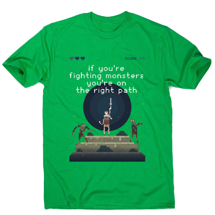 Fight monsters - men's motivational t-shirt - Graphic Gear