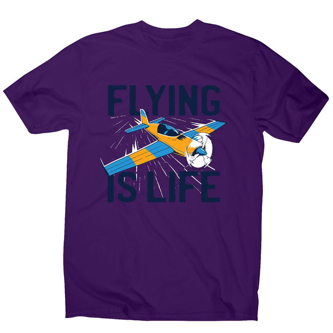 Flying is life - men's funny premium t-shirt - Graphic Gear