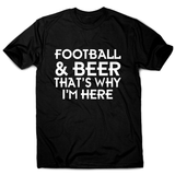 Football & beer awesome funny t-shirt men's - Graphic Gear
