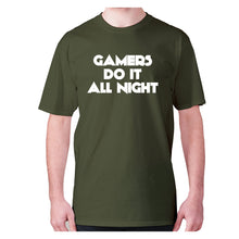 Load image into Gallery viewer, GAMERS DO IT ALL NIGHT - men's premium t-shirt - Graphic Gear
