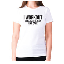 Load image into Gallery viewer, I workout because I really like cake - women's premium t-shirt - Graphic Gear
