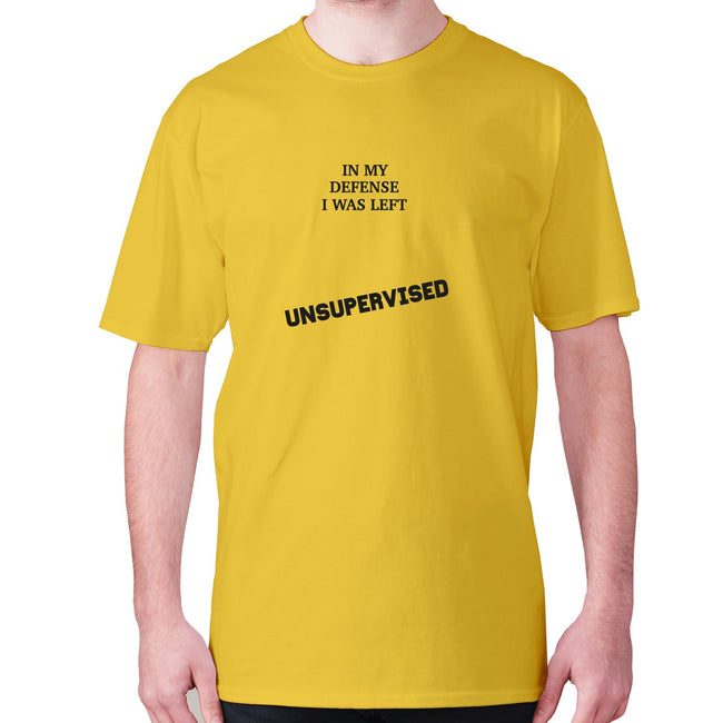 In my defence I was left unsupervised - men's premium t-shirt - Graphic Gear