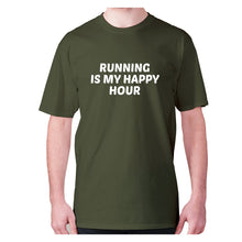 Load image into Gallery viewer, Running is my happy hour - men's premium t-shirt - Military Green / S - Graphic Gear