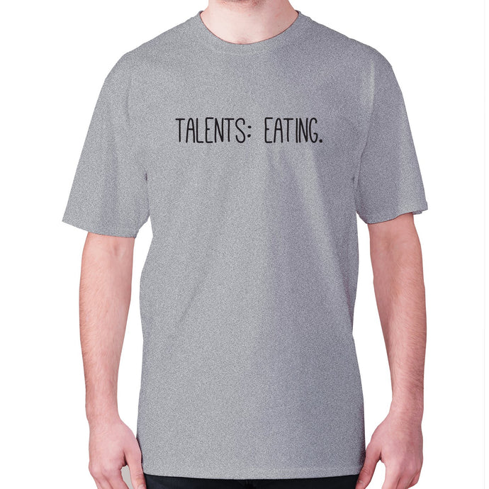 Talents eating - men's premium t-shirt - Grey / S - Graphic Gear