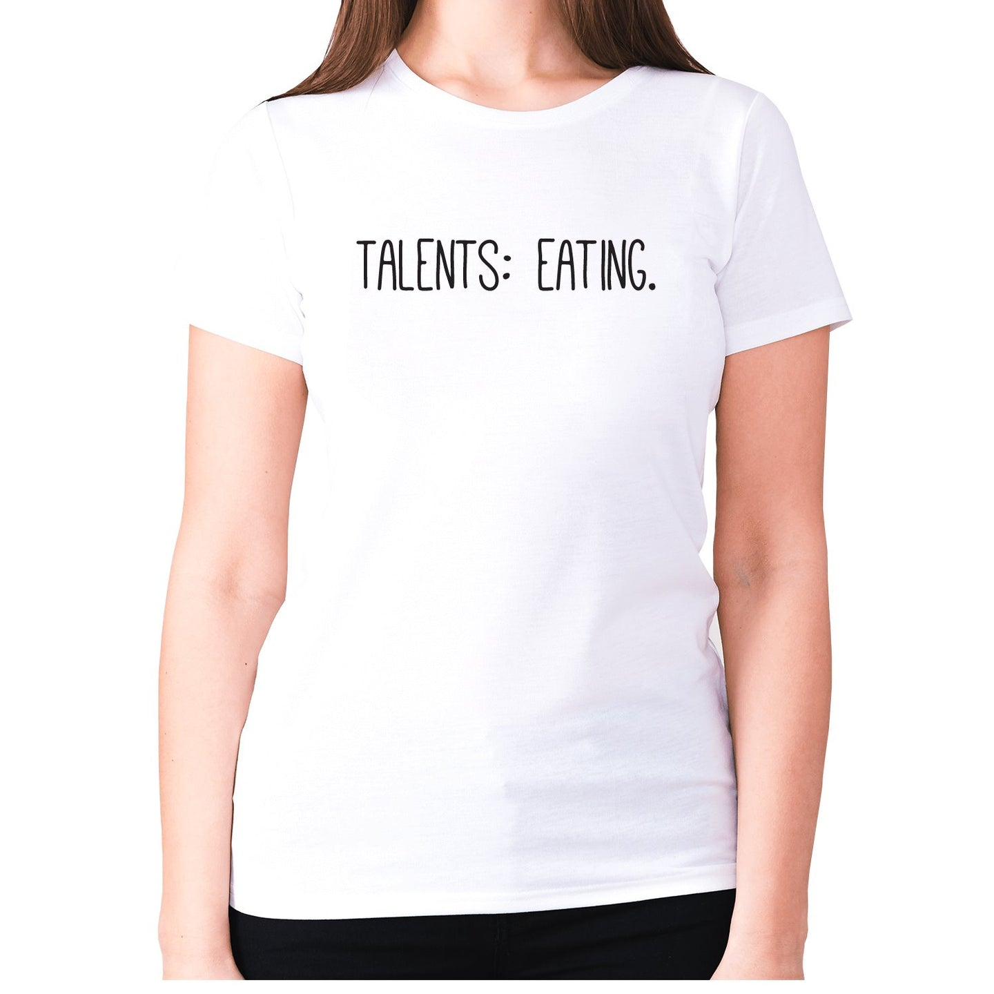 Talents eating - women's premium t-shirt - White / S - Graphic Gear