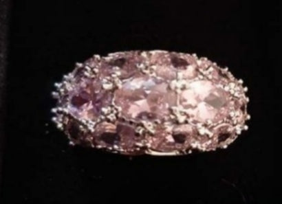 White and Pink Topaz Ring