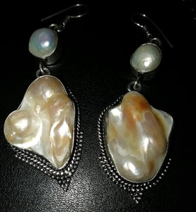 Biwa Pearl Earrings