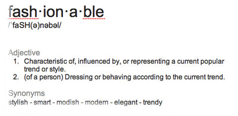 fashionable-definition