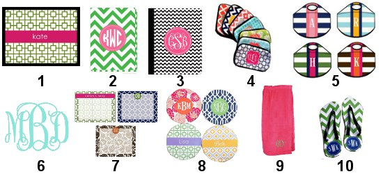 monogrammed back to school accessories