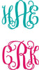 Fancy Interlock Monogram Decal