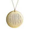 Gold Monogram Necklace - Large
