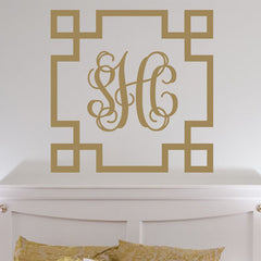 Square Interlock Greek Key Decal
