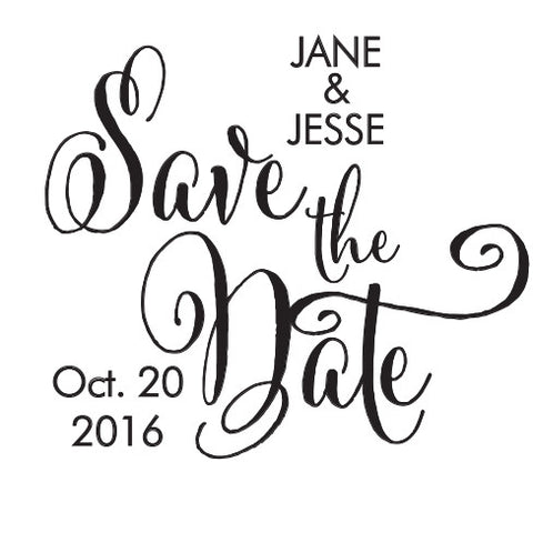 Personalized Save The Date Self Inking Stamper