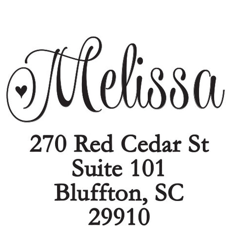 Personalized Melissa Self Inking Stamper
