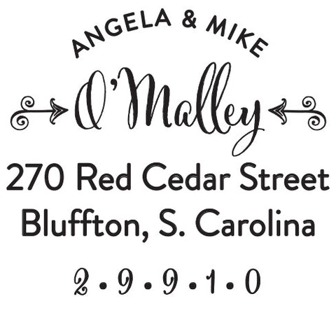 Personalized O'Malley Self Inking Stamper
