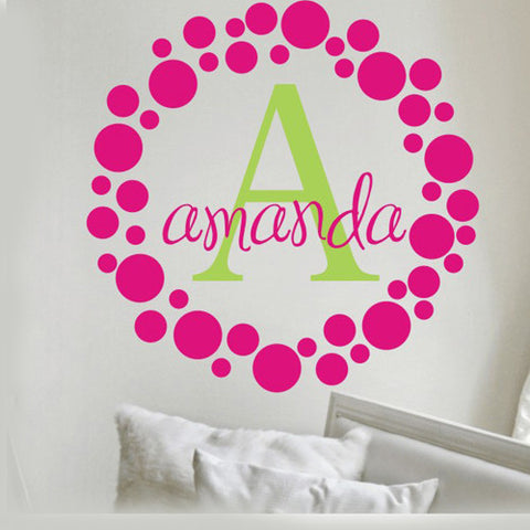 Amanda's Dot's Monogram Decal