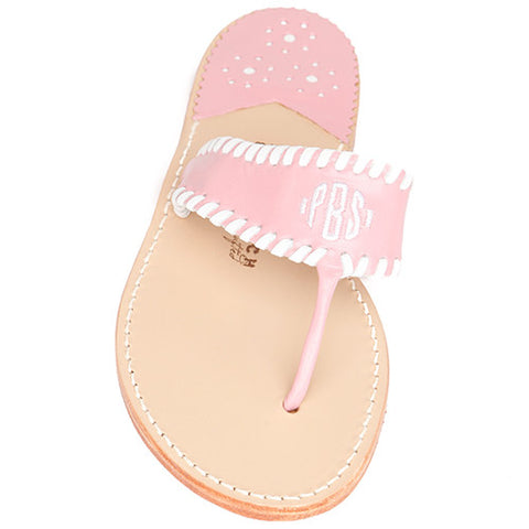 Aubrey Arbutus Monogram Palm Beach Sandals