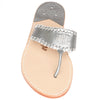 Gunmetal Monogram Sandals