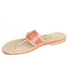Aubrey Coral Sandals Side