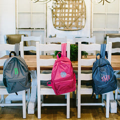 monogram backpack in three colors