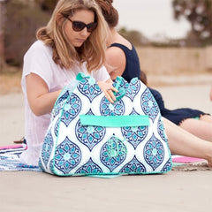 boho beach bag with monogram