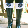 Monogram Boot Socks - Chevron Applique