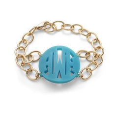 Acrylic Monogram Bracelet - Moon and Lola - Block
