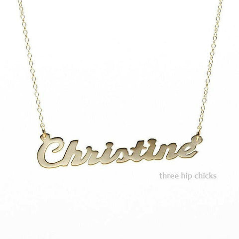 Carrie Gold Nameplate Necklace