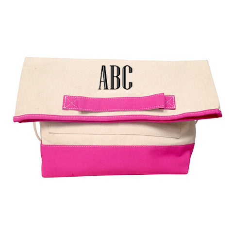 Monogram Foldover Laptop Tote Bag - Choose Color