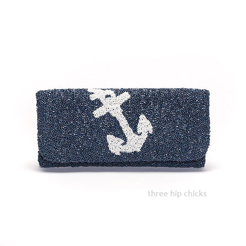 Anchor Beaded Clutch - Choose Colors