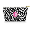 Monogram Cosmetic Bag - Zebra Black