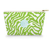Monogram Cosmetic Bag - Zebra Lime