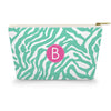 Monogram Cosmetic Bag - Zebra Mint