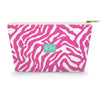 Monogram Cosmetic Bag - Zebra Pink