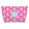 Damask Makeup Bag - Hot Pink