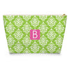 Damask Makeup Bag - LIme