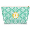 Damask Makeup Bag - Mint