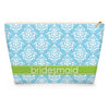 Damask Makeup Bag - Sky
