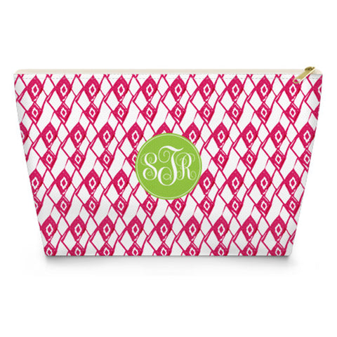 Monogram Makeup Bag - Diamond Line