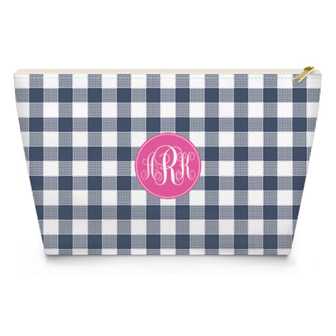 Monogram Makeup Bag - Gingham