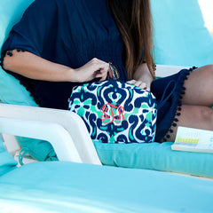 lagoon monogram cosmetic bag