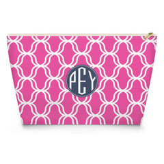 Lattice Makeup Bag - Hot Pink