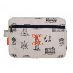 nautical stripe cosmetic bag