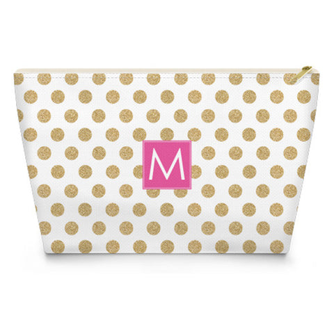 Monogram Makeup Bag - Glam Dots